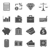 Pieniądze ikony Zdjęcia Royalty Free