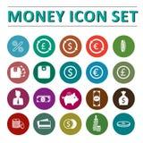 Pieniądze ikony set Zdjęcia Stock