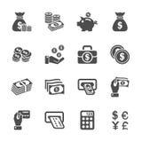 Pieniądze ikony set, wektor eps10 Zdjęcia Stock