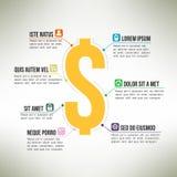 Pieniądze infographic szablon stosowny dla biznesu Obrazy Royalty Free