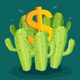 Pieniądze kaktus ilustracja wektor