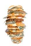 pieniądze kanapka Obrazy Royalty Free