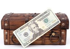 Pieniądze klatka piersiowa obraz royalty free