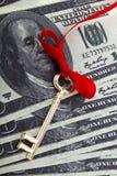 Pieniądze klucz Obraz Royalty Free