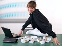 pieniądze kobieta Fotografia Royalty Free