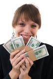 pieniądze kobieta Obrazy Royalty Free