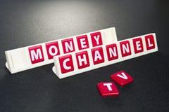 pieniądze korytkowa telewizja Obrazy Stock