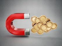Pieniądze magnes Fotografia Stock