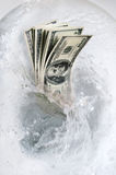 pieniądze marnowanie Zdjęcie Stock