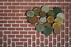 pieniądze monet Fotografia Royalty Free
