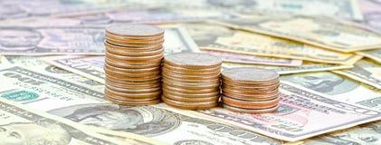 Pieniądze monety Obrazy Stock