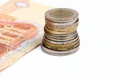 Pieniądze monety Zdjęcia Royalty Free