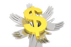 Pieniądze na solidne podstawy Zdjęcia Stock