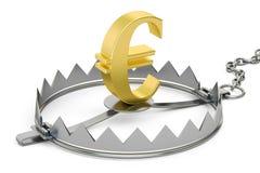 Pieniądze oklepiec z euro znakiem, 3D rendering Obraz Royalty Free