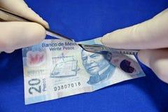 pieniądze operacja Fotografia Stock