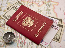 pieniądze paszport Obraz Royalty Free