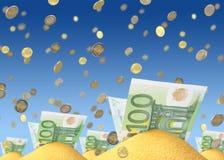pieniądze piasek Zdjęcie Stock