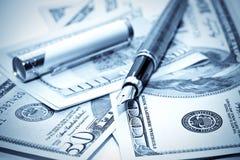 pieniądze pisze my Obrazy Stock