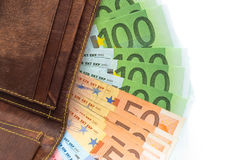 pieniądze portfel Zdjęcie Stock