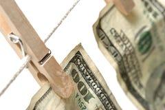 pieniądze pralniczy white Fotografia Stock
