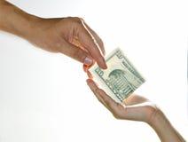 pieniądze rekompensaty Zdjęcia Royalty Free