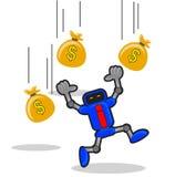 Pieniądze robot Obraz Stock