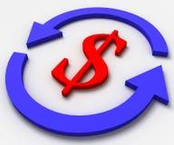 pieniądze ruch drogowy Fotografia Stock