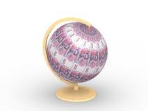 Pieniądze sfera Zdjęcia Royalty Free