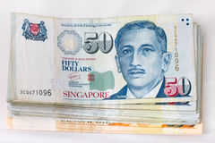 Pieniądze Singapur finanse Fotografia Stock