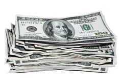 pieniądze sterta Obraz Stock
