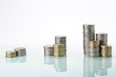 pieniądze sterty Fotografia Stock