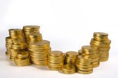 pieniądze sterty Zdjęcie Royalty Free