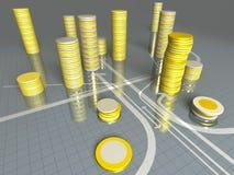 pieniądze stos Zdjęcia Stock