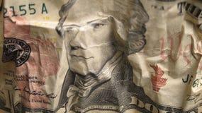 Pieniądze Tekstura Dolarowy Bill Fotografia Royalty Free