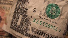 Pieniądze Tekstura Dolarowy Bill Obrazy Royalty Free