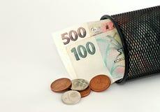 pieniądze upadek Zdjęcia Stock