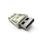 pieniądze usb Zdjęcie Royalty Free