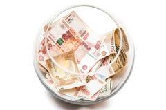 Pieniądze w banku Fotografia Royalty Free