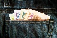 Pieniądze w kieszeni Obraz Stock