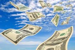 Pieniądze w niebie. Zdjęcia Royalty Free