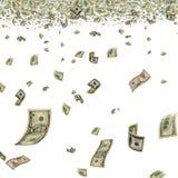 Pieniądze w powietrzu. Obraz Royalty Free
