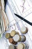 pieniądze wydatki Zdjęcia Stock