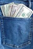 pieniądze z kieszeni Zdjęcie Stock