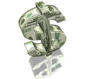 pieniądze znak Zdjęcia Stock