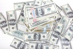 pieniędzy 100 dolarów Zdjęcia Royalty Free