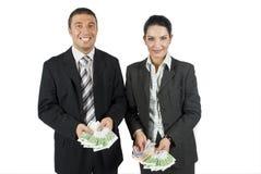 pieniędzy biznesowi ludzie Zdjęcia Royalty Free