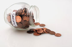 pieniądze oszczędzanie Zdjęcia Stock