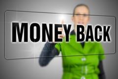 Pieniądze plecy Obraz Stock
