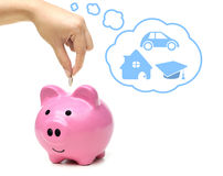 pieniądze przyszłościowy oszczędzanie Obraz Stock