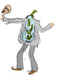 pieniądze szalony wektor Obraz Stock